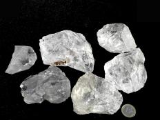 Large Transparent Rough Quartz Stones - 1 lb