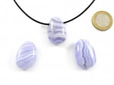 Blue Lace Agate Drop Bead Pendant