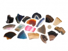 Agate Slice Fragments, Tumbled - 1 lb