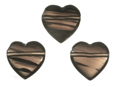 Midnight Lace Obsidian Drilled Heart Pendant