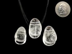 Rock Crystal / Quartz Drop Bead Pendant