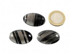 Midnight Lace Obsidian Cabochon Small - 30 x 20 mm