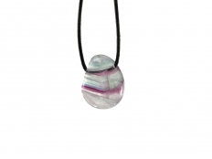 Fluorite (Multicolor) Drop Bead Pendant