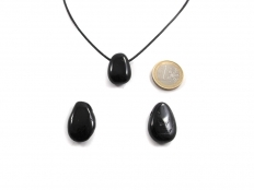Black Tourmaline Drop Bead Pendant