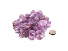 Amethyst Tumbled Stones A Grade - 1 lb