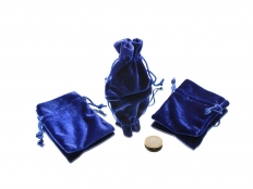 Velvet Pouch in Red or Blue or White - 1 pc
