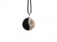 Yin & Yang Stone Pendant - 1 pc