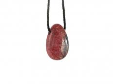 Rhodonite Drop Bead Pendant