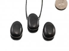 Shungite Drop Bead Pendant - 1 pc