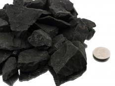 Shungite Small Rough Stones 1-2 in - 1 lb