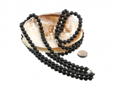 Shungite Bead Necklace - 1 pc
