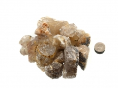 Rutilated Quartz Rough Stones - 8 oz