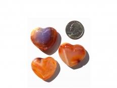 Carnelian Small Heart - 1 pc