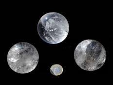 Clear Quartz Spheres B Grade - 1 lb