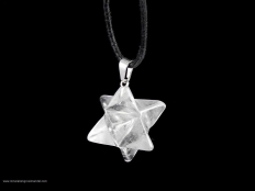 Merkabah (Star) Quartz Pendant - 1 pc