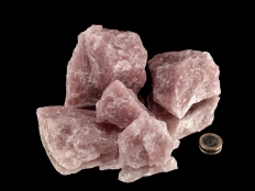 Lavender Rose Quartz Rough Stones - 1 lb