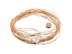 Leather Cord With Clasp - Black or Tan