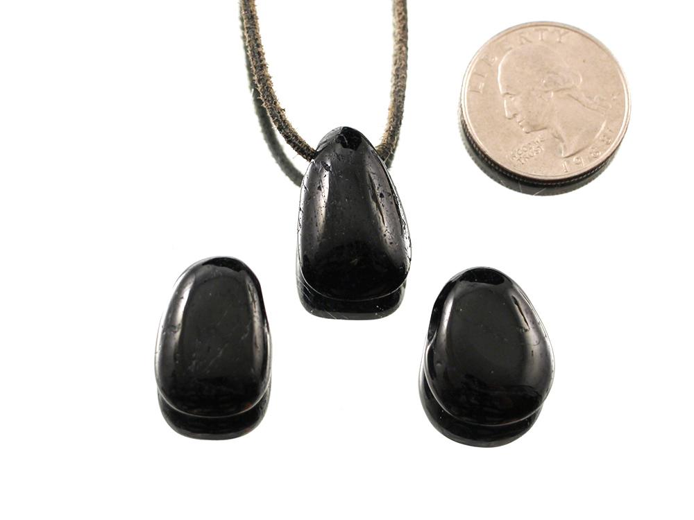 Tourmaline drop bead pendant for sale hausen rock treasures black tourmaline schorl drop bead pendant aloadofball Choice Image