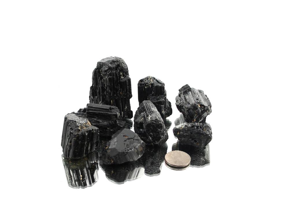 Black Tourmaline Terminated Specimens - 1 lb