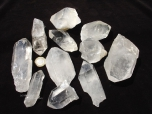 Large Quartz Crystals, A-B grade, 2-4 in - 1 lb