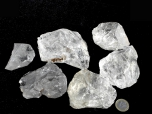 Large Transparent Rough Quartz Stones - 1 lb