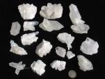Small - Med Quartz Clusters, B Grade - 1 lb