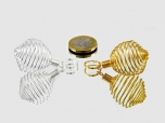 Metal Coil Rock Cage Pendants - Silver / Gold