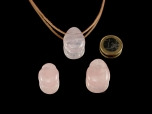 Rose Quartz Drop Bead Pendant