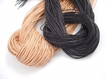 Leather Cord - Black or Tan - 1 Yard
