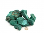 Malachite Rough Stones - 1 lb