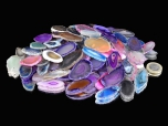 100-Pack Agate Slices Mini Mix, B Grade