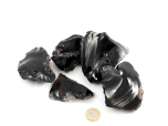 Midnight Lace Obsidian Rough Stones - 1 lb