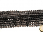 Midnight Lace Obsidian Bead Strand 8 mm