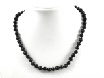 Midnight Lace Obsidian Round Bead Necklace