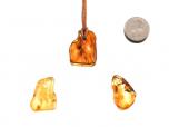 Tumbled Amber Pendants - 1 pc