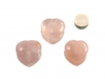 Rose Quartz Heart - 1 pc