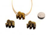Tiger Eye Elephant Pendant - 1 pc