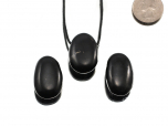 Shungite Drop Bead Pendant - 1 pc