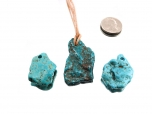 Natural Turquoise Freeform Pendant - Small