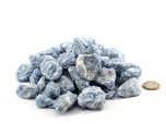 Blue Calcite Small Rough Stones - 1 lb