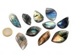 AA Labradorite Cabochons - 10 Pieces