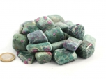 Ruby Fuchsite Shaped Tumbled Stones - 1 lb
