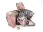 Rhodonite Rough Stones - 1 lb
