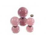 Rose Quartz Star Spheres - 1 lb