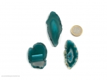 Agate Slices Teal Small - 1 pc