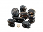Hawk Eye XL Oval Tumbled Stones - 1 lb