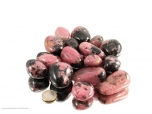 Rhodonite XL Oval Tumbled Stones - 1 lb