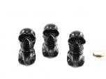 Midnight Lace Obsidian Small Skull - 1 pc