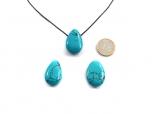 Turquoise (rec.) Drop Bead Pendant