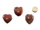 Petrified Wood Heart - 1 pc